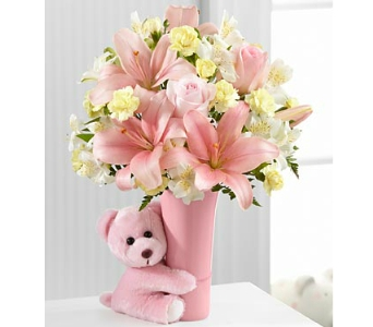 The FTD� Baby Girl Big Hug� Bouquet - deluxe in Arlington VA, Twin Towers Florist