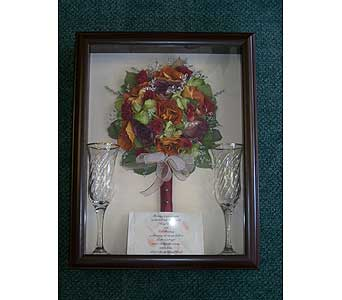 12x16 Bridal Shadowbox in Middletown DE, Forget Me Not Florist & Flower Preservation