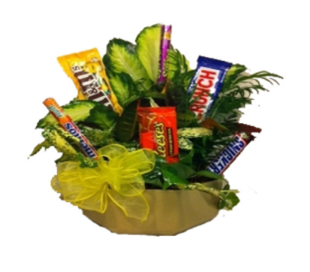 Candy Planter Bouquet in Columbus OH, OSUFLOWERS .COM
