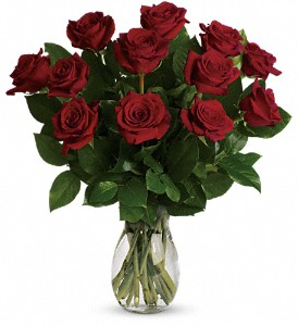 My True Love Bouquet with Long Stemmed Roses in New Castle DE, The Flower Place