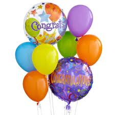Congratulations Balloon Bouquet in Bonita Springs FL, Bonita Blooms Flower Shop, Inc.