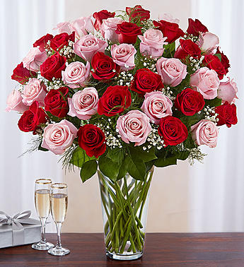 Ultimate Elegance Long Stem Pink &  Red Roses in El Cajon CA, Conroy's