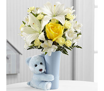 Baby Boy Big Hug Bouquet in Washington IN, Myers Flower Shop