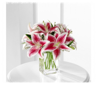 The Pink Lily Bouquet in Alexandria MN, Broadway Floral