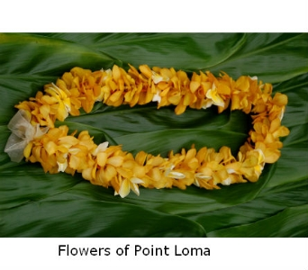 Single Morcara orchids Lei in San Diego CA, Flowers Of Point Loma