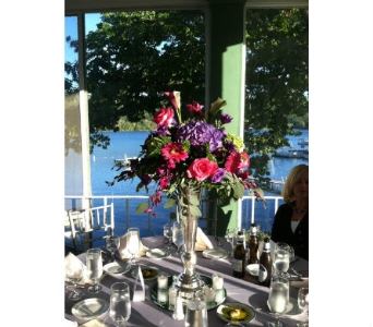 Silver Trumpet Vase Rental in Cooperstown NY, Mohican Flowers