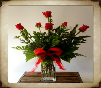 Classic Red Rose Half Dozen in Yorba Linda CA, Garden Gate