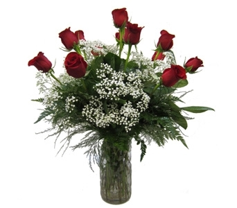 A Dozen Red Roses in Lawrence KS, Owens Flower Shop Inc.