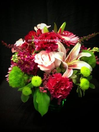 Pinks & Greens Galore Arrangement in Bethany OK, Ann's Secret Garden