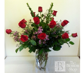 Eighteen Red Roses in Charlotte NC, The Blossom Shop