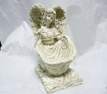 ANGEL WITH SKIRT BOWL in Pittsburgh PA, Harolds Flower Shop