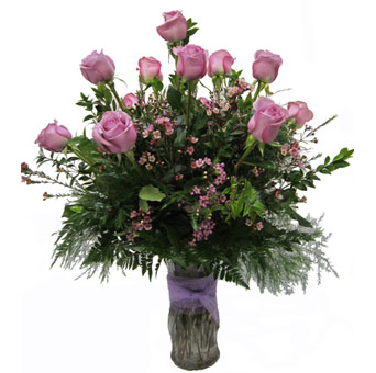 A Dozen Lavender Roses in Lawrence KS, Owens Flower Shop Inc.