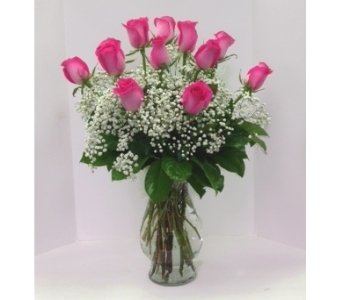 BELLA DOZEN PINK in Arlington VA, Twin Towers Florist