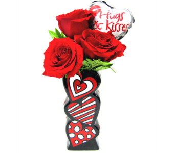 FF141 Floating Hearts Bud Vase'' in Oklahoma City OK, Array of Flowers & Gifts