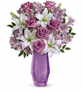 Teleflora's Lavender Beauty Bouquet in Lake Worth FL, Flower Jungle of Lake Worth
