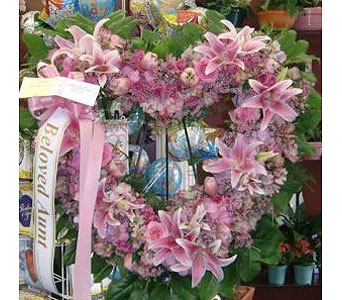 Open Pink Heart in New Rochelle NY, Enchanted Flower Boutique
