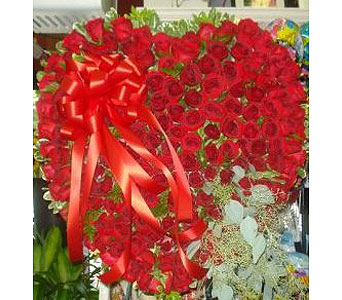 Solid Red Heart in New Rochelle NY, Enchanted Flower Boutique