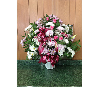 Tribute Basket 21 in Dorchester MA, Lopez The Florist