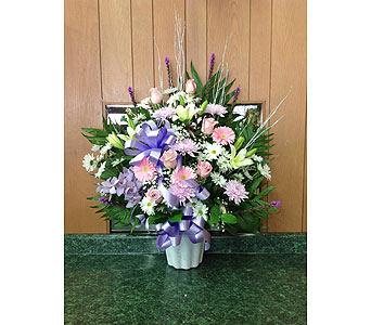 Tribute Basket 17 in Dorchester MA, Lopez The Florist