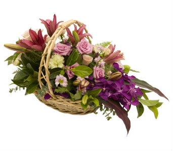 Sympathy Basket in Flowers CA, petalsnetwork.co.uk