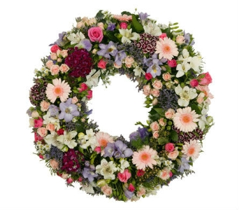 Sympathy Wreath in Flowers CA, petalsnetwork.co.uk