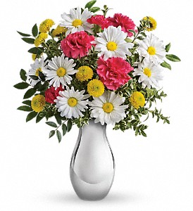 Just Tickled Bouquet by Teleflora in Menomonee Falls WI, Bank of Flowers