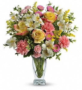 Meant To Be Bouquet by Teleflora in Gothenburg NE, Ribbons & Roses