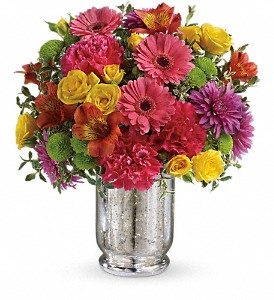 Teleflora's Pleased As Punch Bouquet in Jamesburg NJ, Sweet William & Thyme
