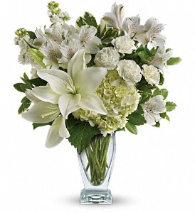 Teleflora's Purest Love Bouquet in Mount Morris MI, June's Floral Company & Fruit Bouquets