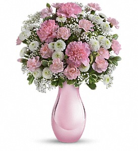 Teleflora's Radiant Reflections Bouquet in Austintown OH, Crystal Vase Florist