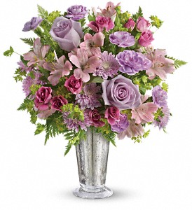 Teleflora's Sheer Delight Bouquet in Jamesburg NJ, Sweet William & Thyme