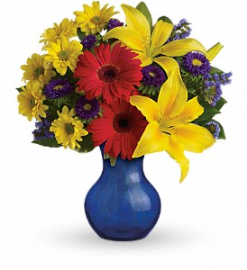 Teleflora's Summer Daydream Bouquet in Metropolis IL, Rainbow Flowers