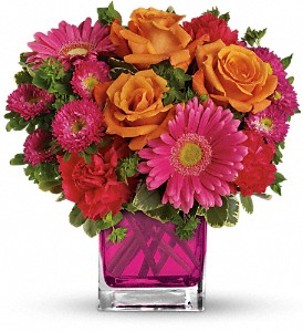 Teleflora's Turn Up The Pink Bouquet in Charleston WV, Food Among The Flowers