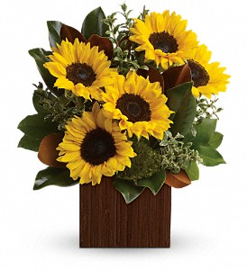 You're Golden Bouquet by Teleflora in Fairfield CA, Flower Basket