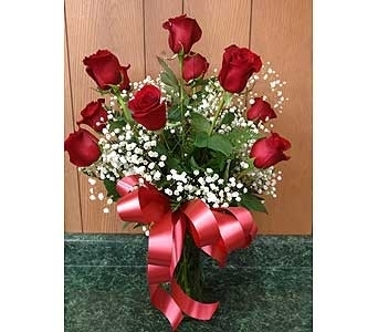 Dozen Long Stem Roses in Dorchester MA, Lopez The Florist