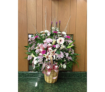 Tribute Basket 15 in Dorchester MA, Lopez The Florist