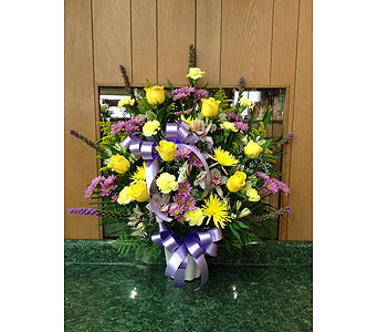 Tribute Basket 14 in Dorchester MA, Lopez The Florist