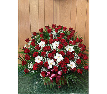 Rose Tribute Baskets in Dorchester MA, Lopez The Florist