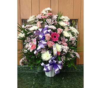 Tribute Basket 04 in Dorchester MA, Lopez The Florist