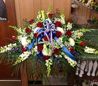 Honor and Remembrance Casket Spray in Dorchester MA, Lopez The Florist