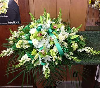 Irish Tribute Casket Spray in Dorchester MA, Lopez The Florist