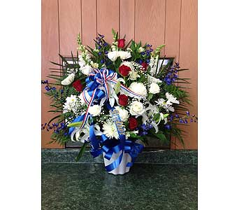Honor and Remembrance Tribute Basket in Dorchester MA, Lopez The Florist