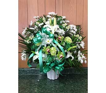 Irish Tribute Basket in Dorchester MA, Lopez The Florist