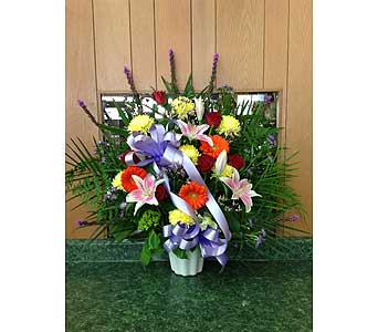 Tribute Basket 07 in Dorchester MA, Lopez The Florist