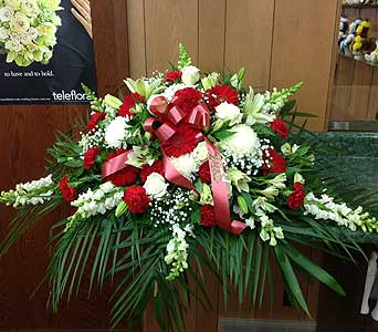 Classic Tribute Casket Spray in Dorchester MA, Lopez The Florist