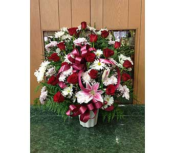 Tribute Basket 09 in Dorchester MA, Lopez The Florist