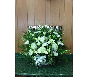 Love & Peace Tribute Basket in Dorchester MA, Lopez The Florist