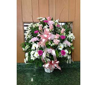 Tribute Basket 12 in Dorchester MA, Lopez The Florist