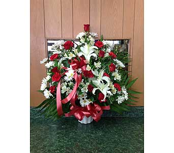 Tribute Basket 13 in Dorchester MA, Lopez The Florist