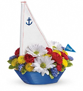 Teleflora's Anchors Aweigh Bouquet in Menomonee Falls WI, Bank of Flowers
